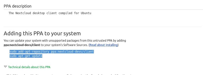 PPA Nextcloud